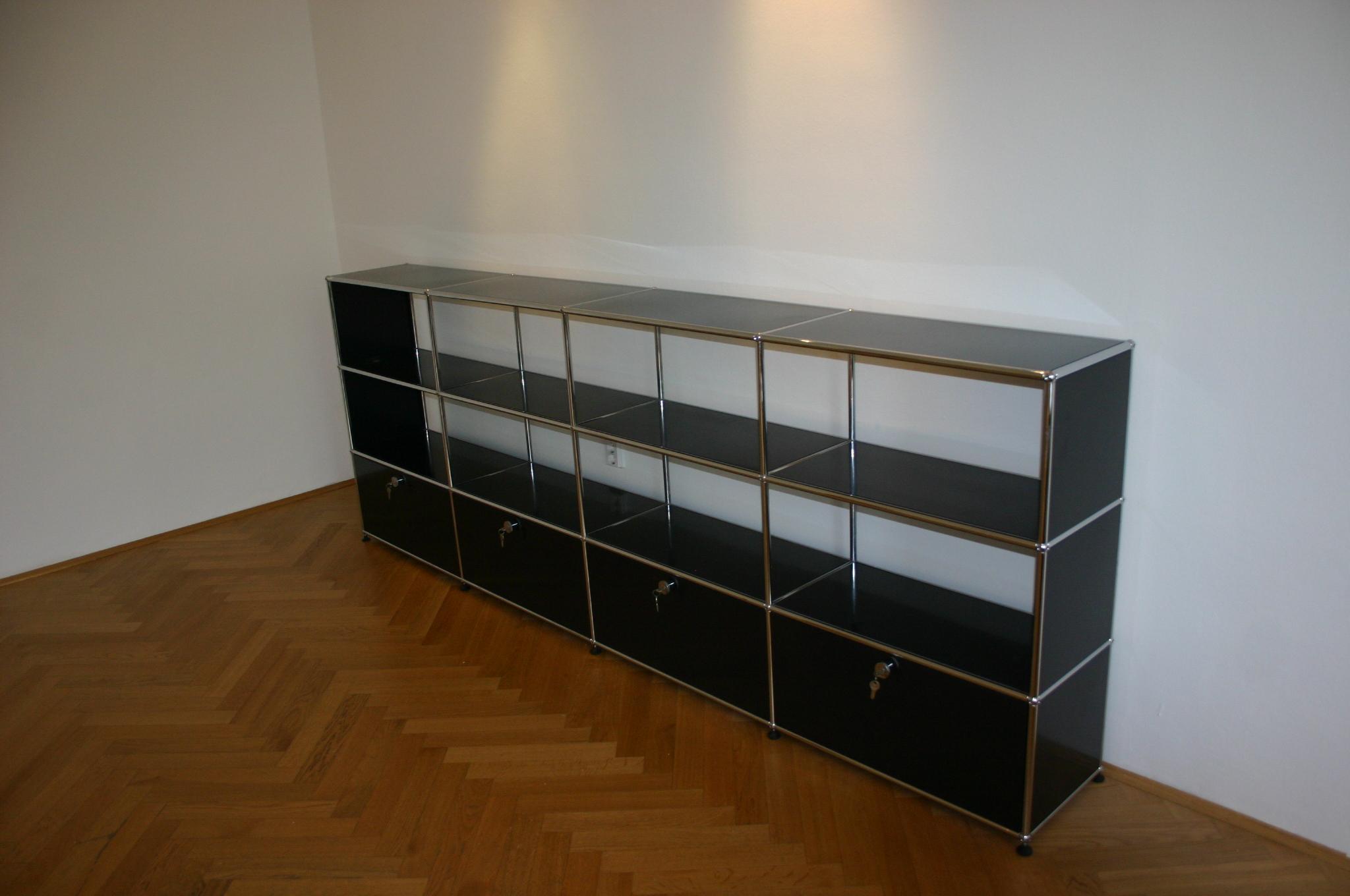 regal sideboard von usm haller in schwarz. Black Bedroom Furniture Sets. Home Design Ideas